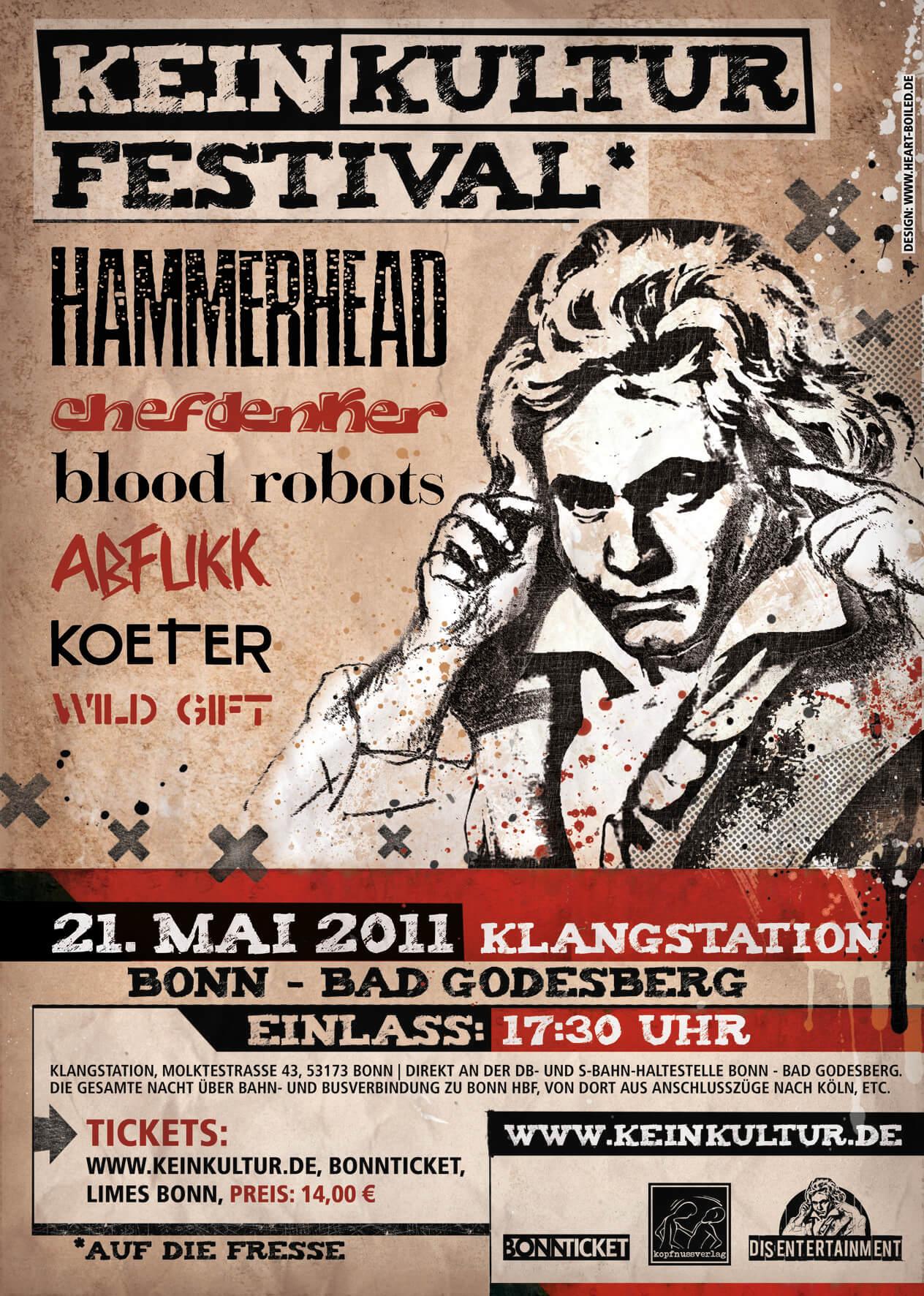 Hammerhead, Abfukk, Chefdenker, Blood Robots, Wild Gift, Koeter