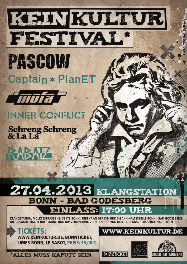 Pascow, Captain Planet, Mofa, Inner Conflict, Schreng Shcreng & La La, Rabatz