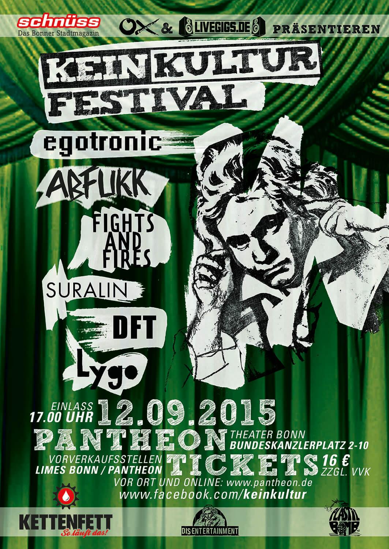 Egotronic, Abfukk, Fights and Fires, Suralin, DFT, Lygo